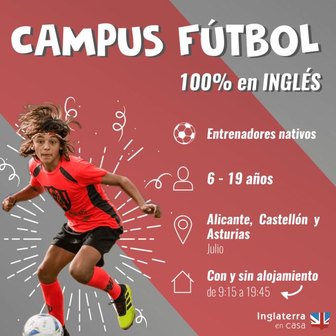 Campus de fútbol en inglés