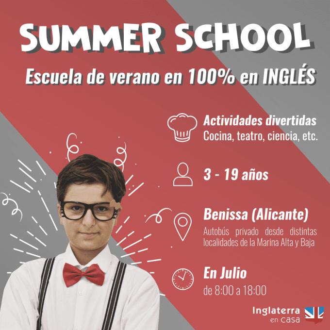 escuela de verano en Benissa