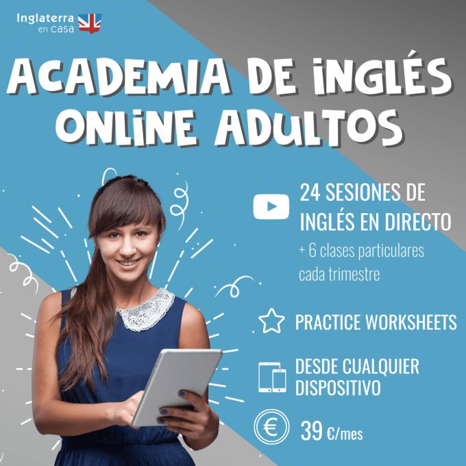 Academia de inglés online para adultos