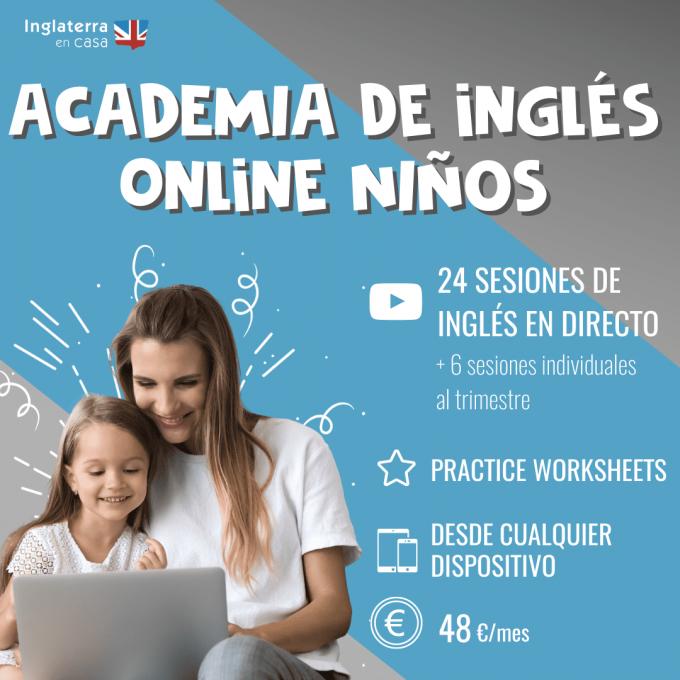 academia de inglés online para niños