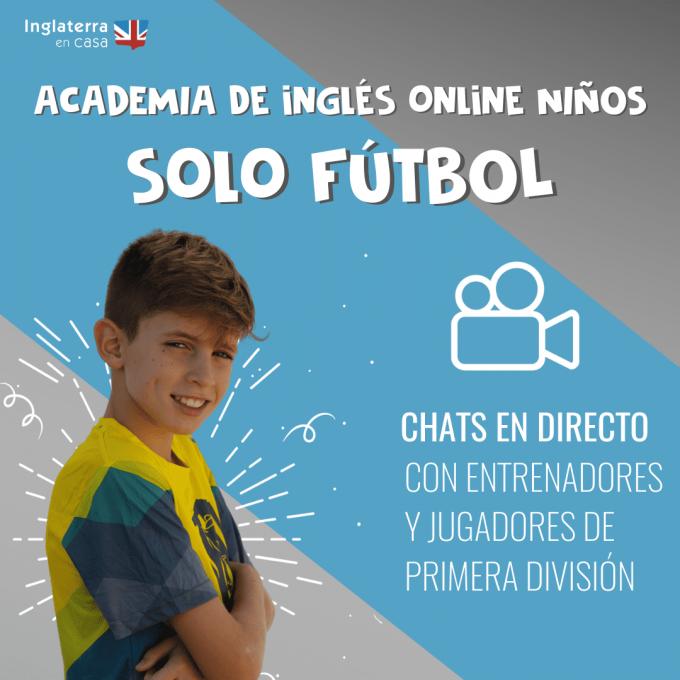 academia inglés online sobre fútbol